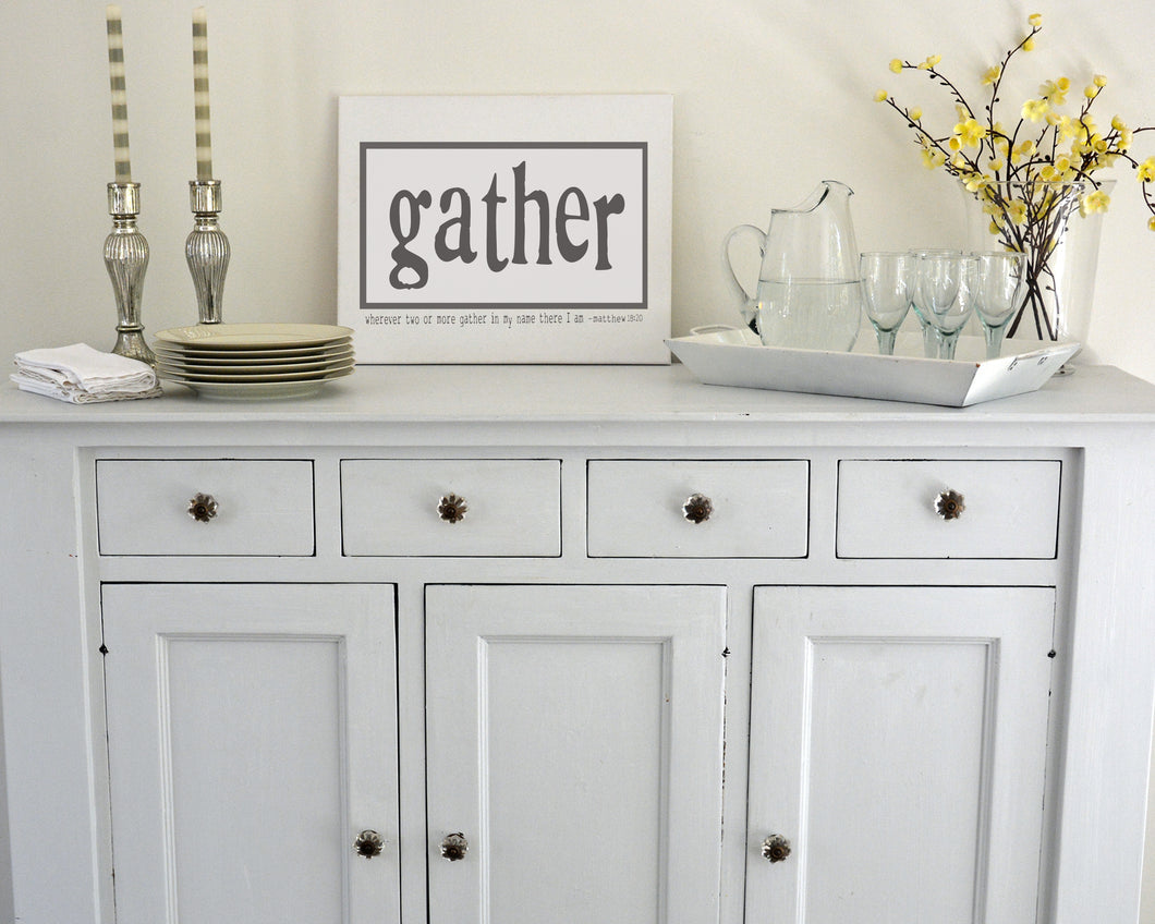 Gather - Rectangle Canvas in 3 sizes