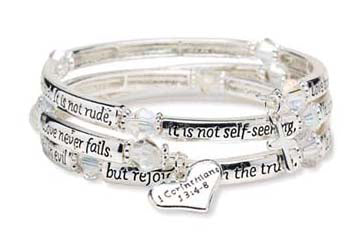 Scripture Wrap Christian Bracelet