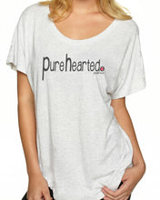 Pure Hearted (Tri-Blend Flowy T-shirt)