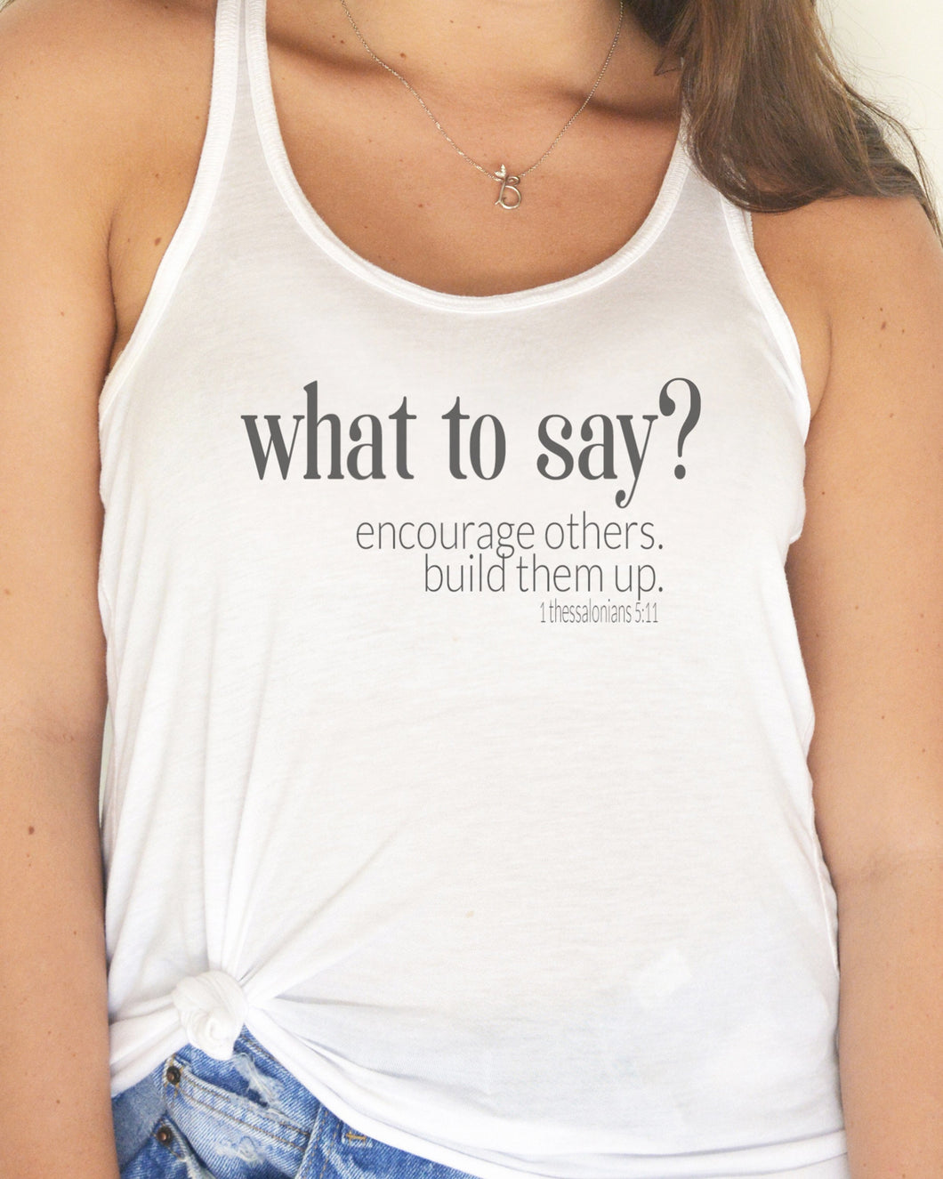 What to Say (Women's Flowy Tank)