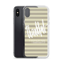 "iPhone Case ""thankful"" stripes in 5 sizes"