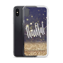 "iPhone Case ""thankful"" midnight gold dust in 5 sizes"