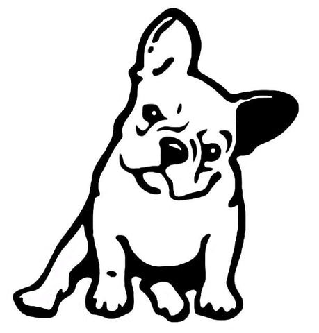 french bulldog dog vinyl car sticker luvvadog rh luvvadog com  cute french bulldog clipart
