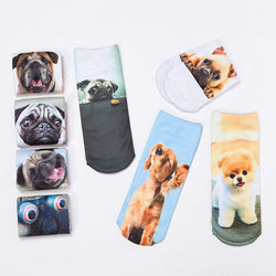 Cartoon Funny Dog  Low Cut Ankle Socks