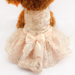 Embroidered Princess Dog Dress
