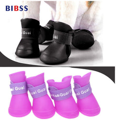 Colorful Waterproof  Rubber Dog Shoes