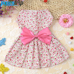 Soft Cotton  Bow Dog Dress