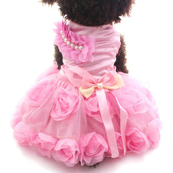 Tutu Rosette & Bow Doggy Princess Dress