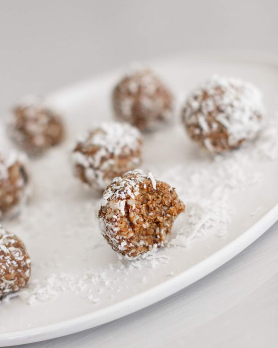 Coconut and cacao crunch bliss balls