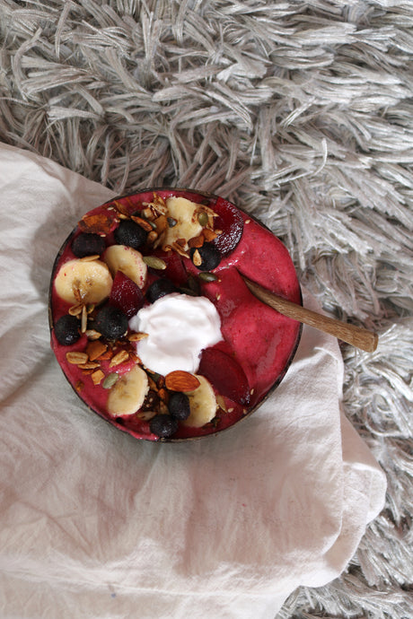 Peanut Butter Berry Smoothie Bowl