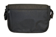 Safe Snuggler Messenger Diaper Bag - Black Back View