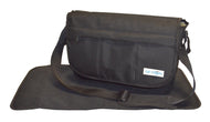 Safe Snuggler Messenger Diaper Bag - Black