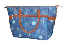 Safe Snuggler Tote Diaper Bag - Blue Dandelion Back View
