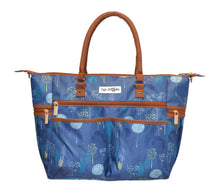 Safe Snuggler Tote Diaper Bag - Blue Dandelion Front View 2