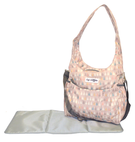 Safe Snuggler Small Diaper Bag - Drops Front View