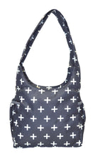 Safe Snuggler Small Diaper Bag - Navy Plus Back View