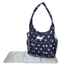 Safe Snuggler Small Diaper Bag - Navy Plus Front View