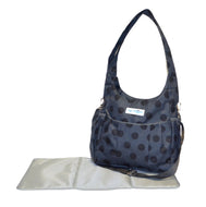 Safe Snuggler Small Diaper Bag - Polka Dot Front View