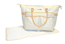 Safe Snuggler Tote Diaper Bag - Tan Front View