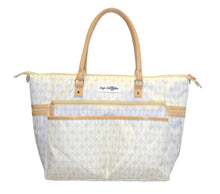Safe Snuggler Tote Diaper Bag - Tan Front View 2