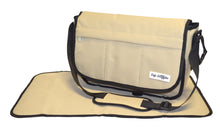Safe Snuggler Messenger Diaper Bag - Tan Front View