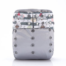 Happy Birthday Raccoon! JinoBaby Charcoal Bamboo AIO Cloth Diapers Reusable Pack of 2 Pieces