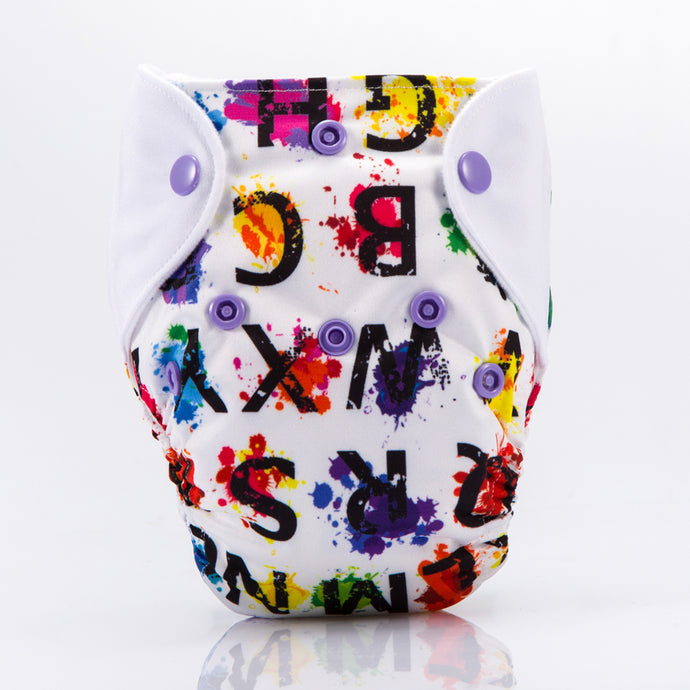 Colorful Letters! Superdry Newborn Diapers AIO (3KG to 6KG weight)