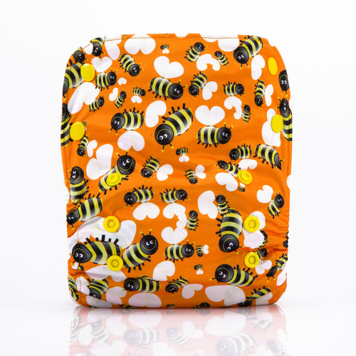 Little Bee! JinoBaby Bamboo Diapers One Size Fits for Newborn to 13KGS