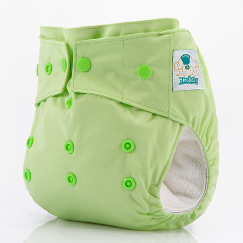 JinoBaby Dry Cloth Baby Nappy Pants One Size Diaper for Newtorn to Toddler - Summer Green