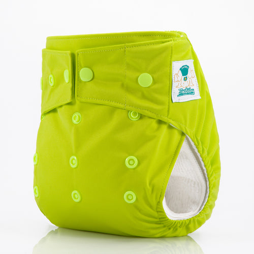 JinoBaby Dry All in One  One Size Cloth Diaper for Newtorn to Toddler - Bright Green
