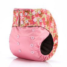 Pink Maple Leaves! JinoBaby Charcoal Bamboo AIO Keep Dry Baby Diapers Reusable Pack of 2 Pieces