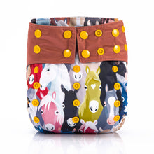Horse Galloping! JinoBaby Super Absorbent Charcoal Bamboo All In One Cloth Diapers Pack of 2 Pieces