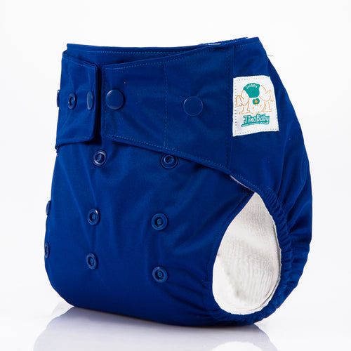 JinoBaby All In One Dry Children Diapers for Newtorn to Toddler - Royal Blue