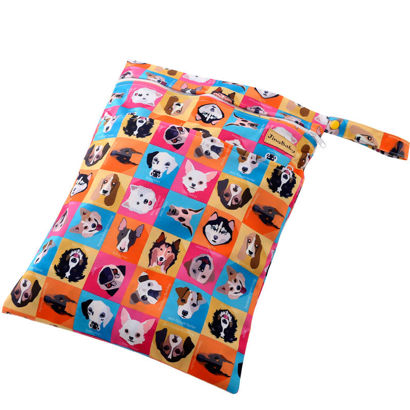 JinoBaby Cloth Diaper Wet Bags Puppies' Party