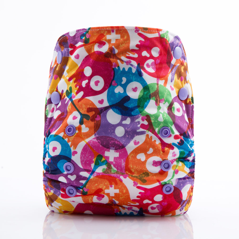 JinoBaby Bamboo Cloth Diapers - Fashion Skull