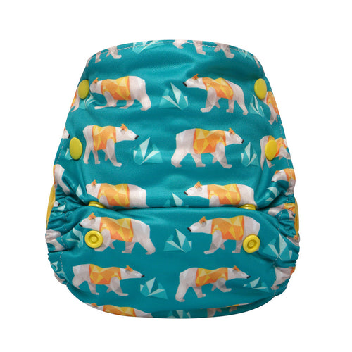 Hey Polar Bear!JinoBaby One Size Fitted Diaper Bamboo for Newborn to 13KGS