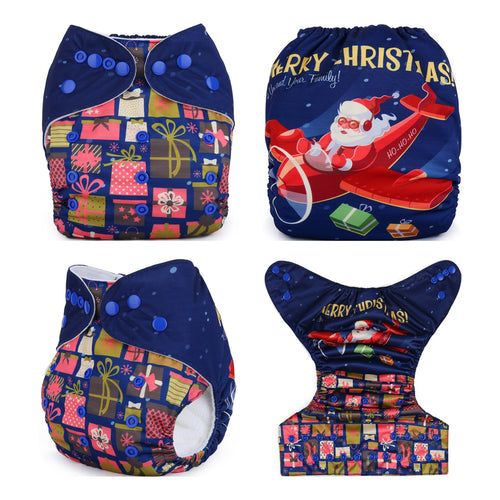 Gift Coming... Christmas Baby Diapers One Size fits NB to 13KG (With 1PCS Insert)