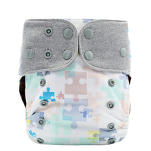 JinoBaby Baby Diaper Pants Coffee Fabric Pocket Diaper Cloth Magic Puzzle