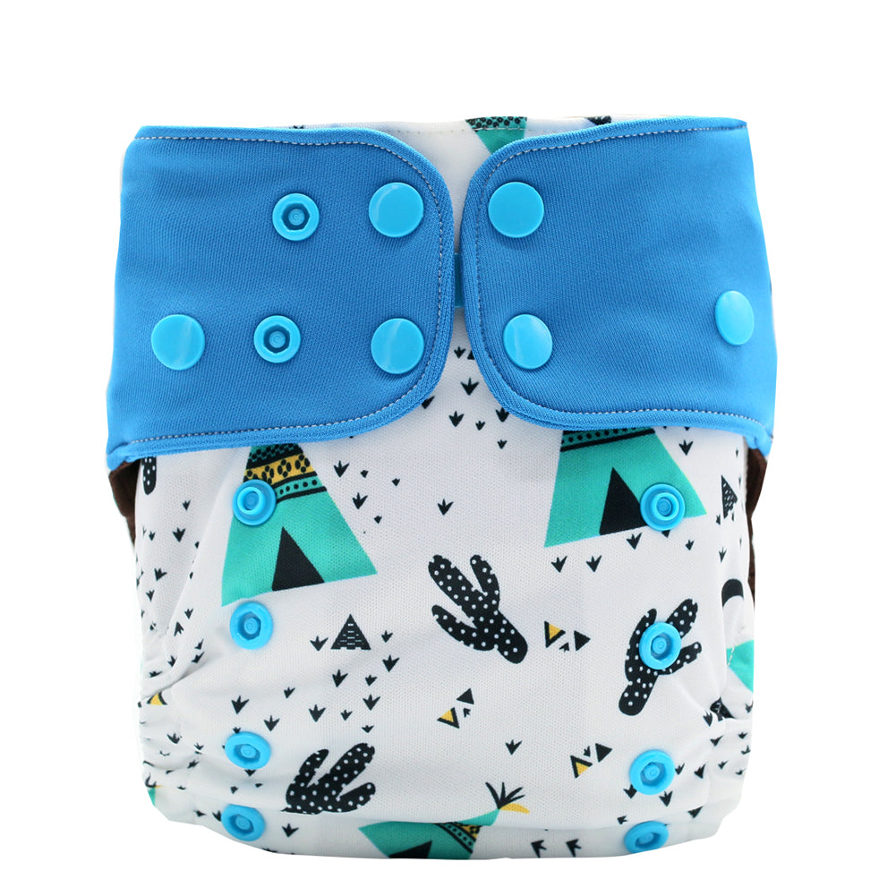 JinoBaby Reusable Diaper Pants Coffee Fabric Pocket Diaper Cactus