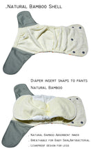 Cool Kitten! JinoBaby Bamboo Diapers One Size Fits for Newborn to 13KGS