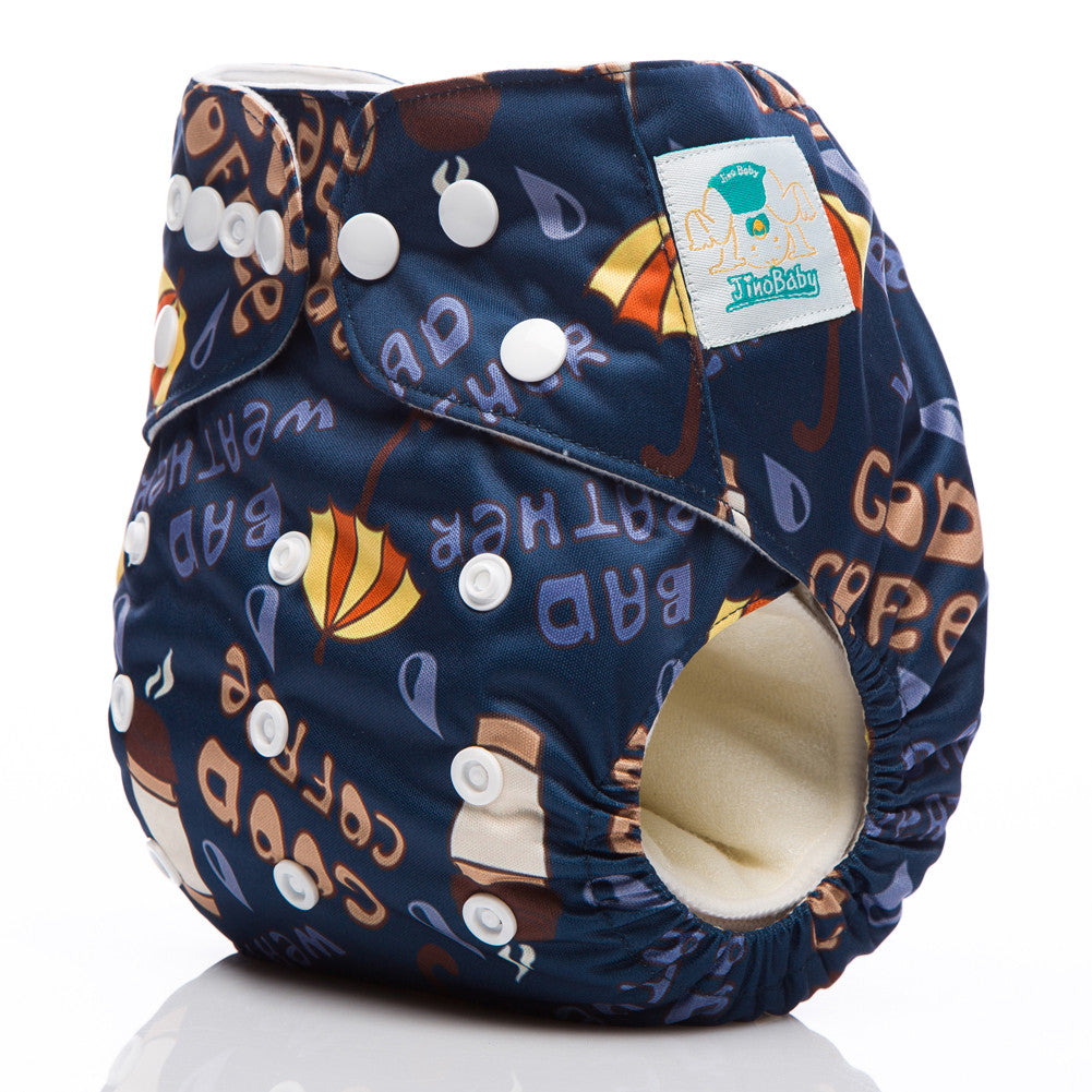 Coffee Weather Jinobaby Cloth Diaper Baby Fits For Newborn To 13kgs