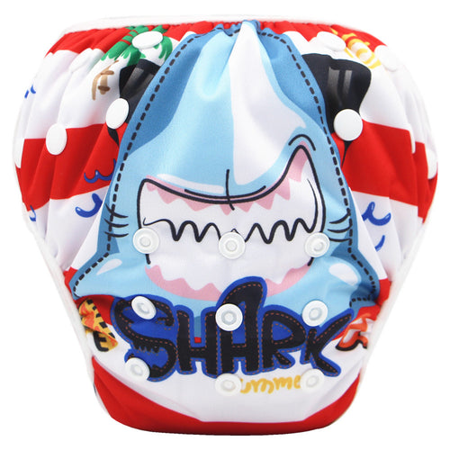 SHARK! Super Baby Swimming Diapers One Size Fits for NB to 13KGS