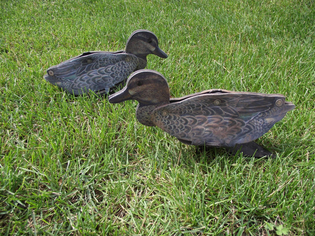 Green Wing Teal Decoy – Foldable and Collapsible Full Body Decoys (6 Decoys) - Fold Up Decoy