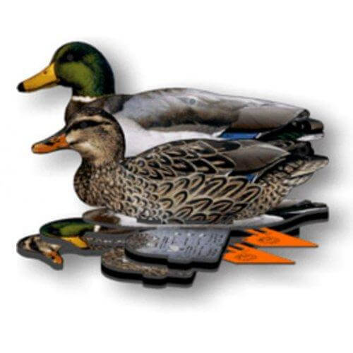 Mallard Duck Decoy – 6-Pack Foldable Mallard Ducks for Hunting – Land and Water Use - Fold Up Decoy