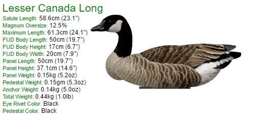 Lesser Canada Goose Decoy – Foldable and Collapsible Full Body Decoys (6 Decoys) - Fold Up Decoy