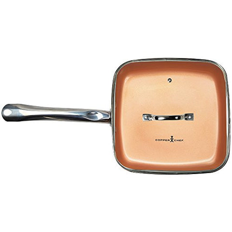 Copper Chef Square Fry Pan With Lid 9 5 Inch Kitchen Hobby