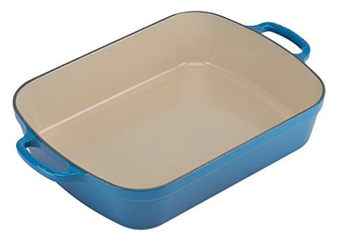 Le Creuset Signature Cast Iron Rectangular Roaster, 5.25-Quart, Marseille