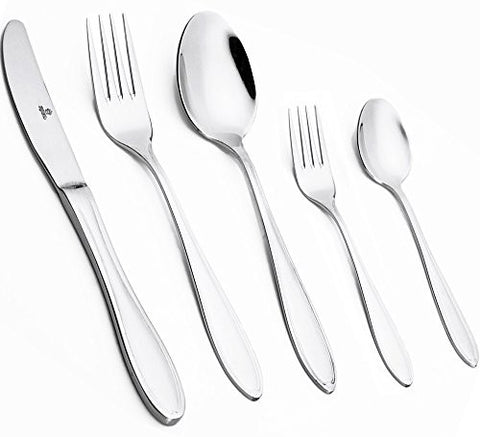 Royal Stainless Steel Mirror Polished Flatware Set (20-Pieces)