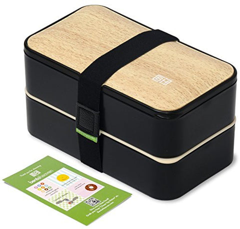 leakproof bento box with fun lunch notes cutlery with chopsticks kitchen hobby. Black Bedroom Furniture Sets. Home Design Ideas