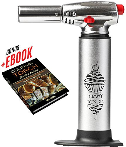 Blow Torch Best Culinary Torch Aluminum Kitchen Hand Butane Torch Chef Torch For Cooking With Double Flame Bonus Recipe E Book Cooking Torch